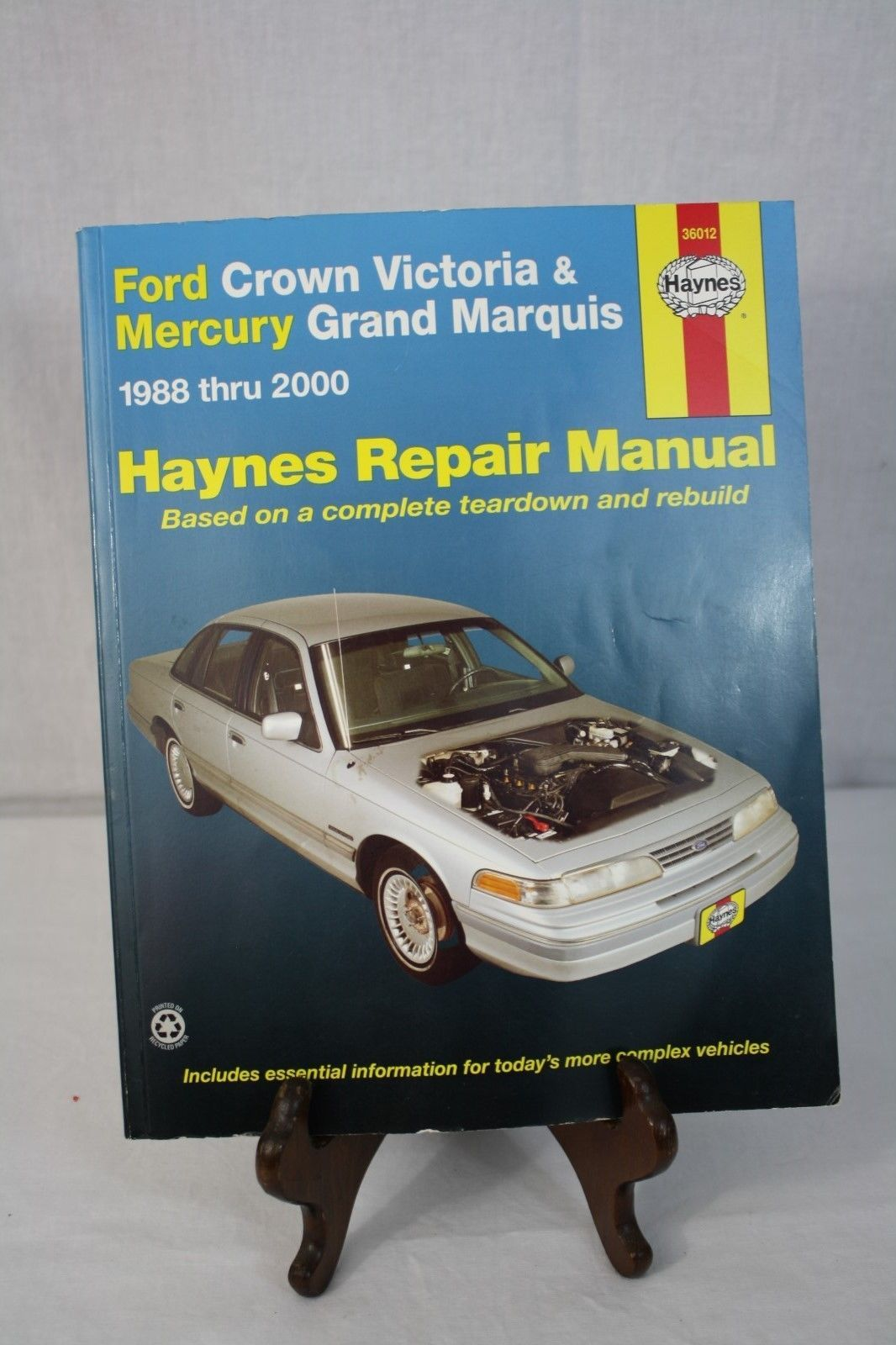 Haynes Repair Manual Ford Crown Victoria & Mercury Grand Marquis 1988-2000