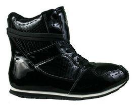 Rubber Duck Combattimento da Corsa con Stampa Lucido Donna Sneaker Stivali Nib image 4