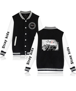 XXS-4XL Stray Kids Picture Show Printed Baseball Jacket Buckle Outwear Tops - $19.00+