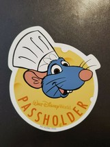 Authentic Disney Passholder Magnet Featuring Chef Remy - $17.00