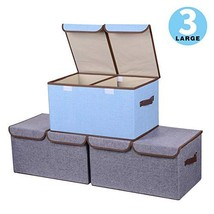 Yostyle Large Foldable Storage Cubes,Fabric Collapsible Storage Bins Org... - $31.90