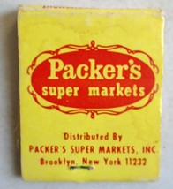 Vintage 1960's Packer's Super Market Matchbook Brooklyn NY partially used - $10.99