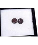 Drusy Quartz Copper Bloom  8 mm Round 2.00 carats set of 2 - $48.36