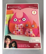 American Girl Crafts Sew & Stuff Kit Makes 2 Stuffed Owls 50 Pieces NEW - $20.09