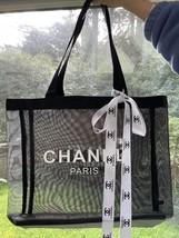 AUTHENTIC  BLACK CHANEL MESH TOTE BAG - $67.00