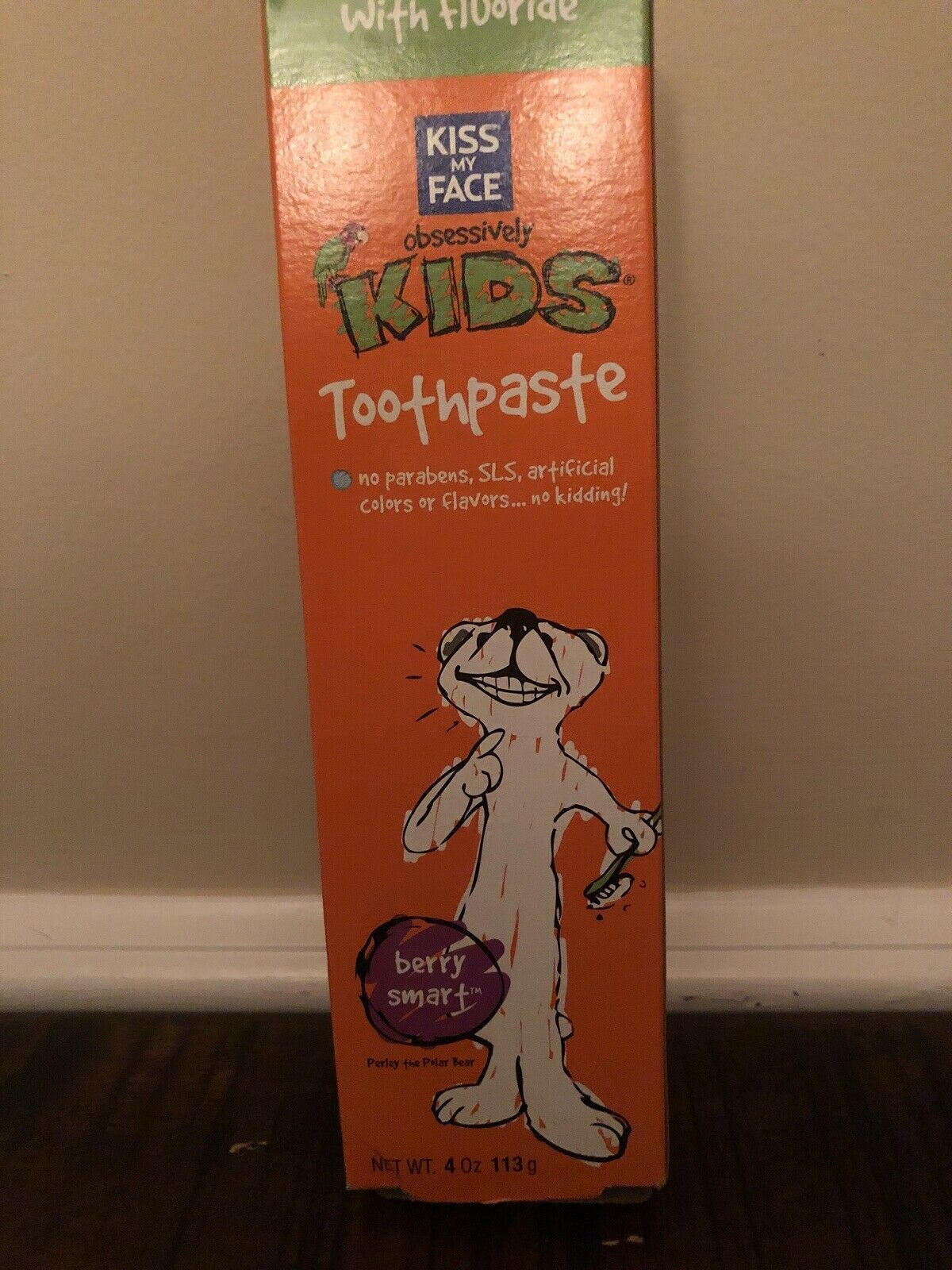 Primary image for Kiss My Face Gentle Toothpaste with Fluoride for Kids - 4 oz - Berry Smart