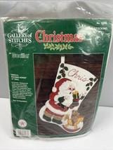 "Santa & Rocking Horse Bucilla Felt Christmas Stocking Kit 15"" COMPLETE O... - $39.60"