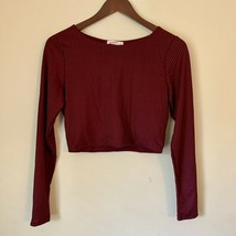 SUPRE Brand  MAROON BURGUNDY Long Sleeve Blouse. Size Large / US 10. NWT. - $22.99
