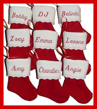 "6"" Personalized Embroidered Felt Christmas Stocking - $2.95"
