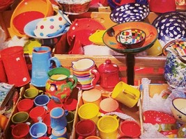 New PUZZLEBUG 500 PIECES   Colourful Pottery & Ceramics - $7.00
