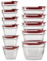 Rubbermaid Easy Find Lids Glass Food Storage Container, 22-piece Set Red - €63,88 EUR