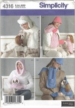 Simplicity Pattern 4316 Dog Coats in 3 Sizes and Misses' & Dog Accessories - $4.99