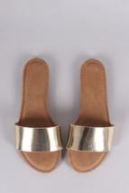 Bamboo Metallic Single Wide Band Slip-On Sandal size 5.5 - $29.70