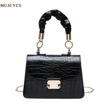 Fashion Alligator Pattern PU Leather Shoulder Bags for Women 2020 Pleate... - $32.93