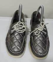 Sperry Top-Sider Womens Loafers 8 M Leather Metallic Quilted Round-toe Boat - $17.62