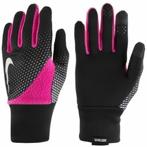 NEW NIKE Women's Element Thermal 2.0 Run/Training Gloves Black/Pink S/P ... - $19.99