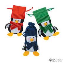 Felt Penguin Drawstring Winter Christmas Holiday Gift Bags (1 dz)  - $20.61