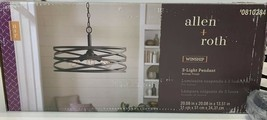 Allen + Roth Winship 20-in Bronze Pendant Light Modern/Contemporary - $160.00