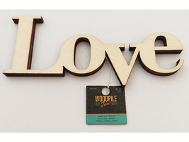 """Unfinished Wooden """"Love"""" Sign #1441377"""