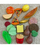 18 PCs pretend play realistic food for children's kitchen playset - $19.20