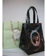 LADUREE PARIS INSULATED HOT COLD FROZEN FOOD CARRIER M Black Bag PVC PAT... - $54.44