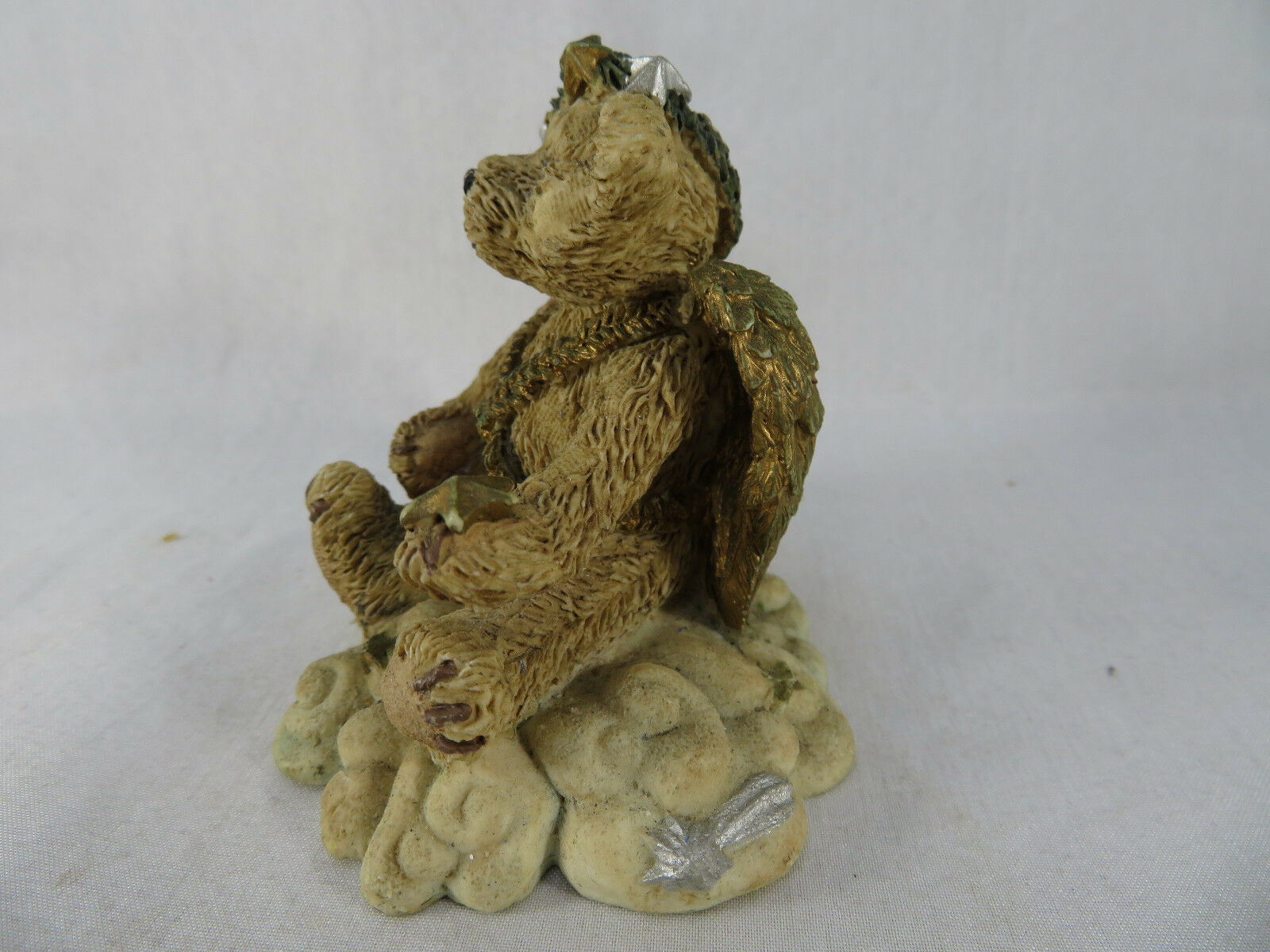 BOYDS BEARS And FRIENDS Resin Figure Light Fades Stars Appear ANGEL 2029-10