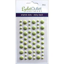 Eyelet Outlet Matte Enamel Dots in Pale Green - 54 Count