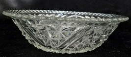 Vintage Anchor Hocking Clear Stars and Bars Serving Bowl, 1924-1965 - $10.80
