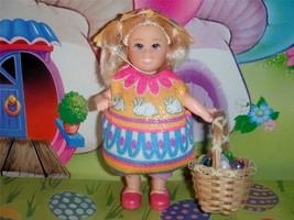 Little Kelly Easter Egg Costume w/ Easter Egg Hat for Fisher Price Loving Family - $12.86
