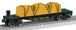 NEW LIONEL 81206 GREAT NORTHERN FLATCAR - NEW IN THE BOX- W48 - $37.19