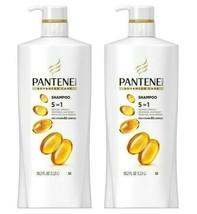 2x Pantene Advanced Care Pro-V 5 in 1 Shampoo B5 Complex STRENGTH HAIR 38.2 Oz ! - $29.99
