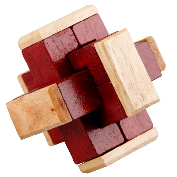 BOHS Classical Brain Teaser Game, Lock and Unlock Magic Cube, Intellectual IQ To