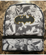 DC Batman Dual Compartment Lunch Bag Container Food Student School Kids ... - $16.82