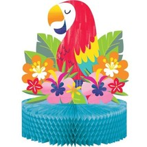 Lush Luau Parrot Flora Honeycomb Centerpiece 12 x 9 inches - $7.69