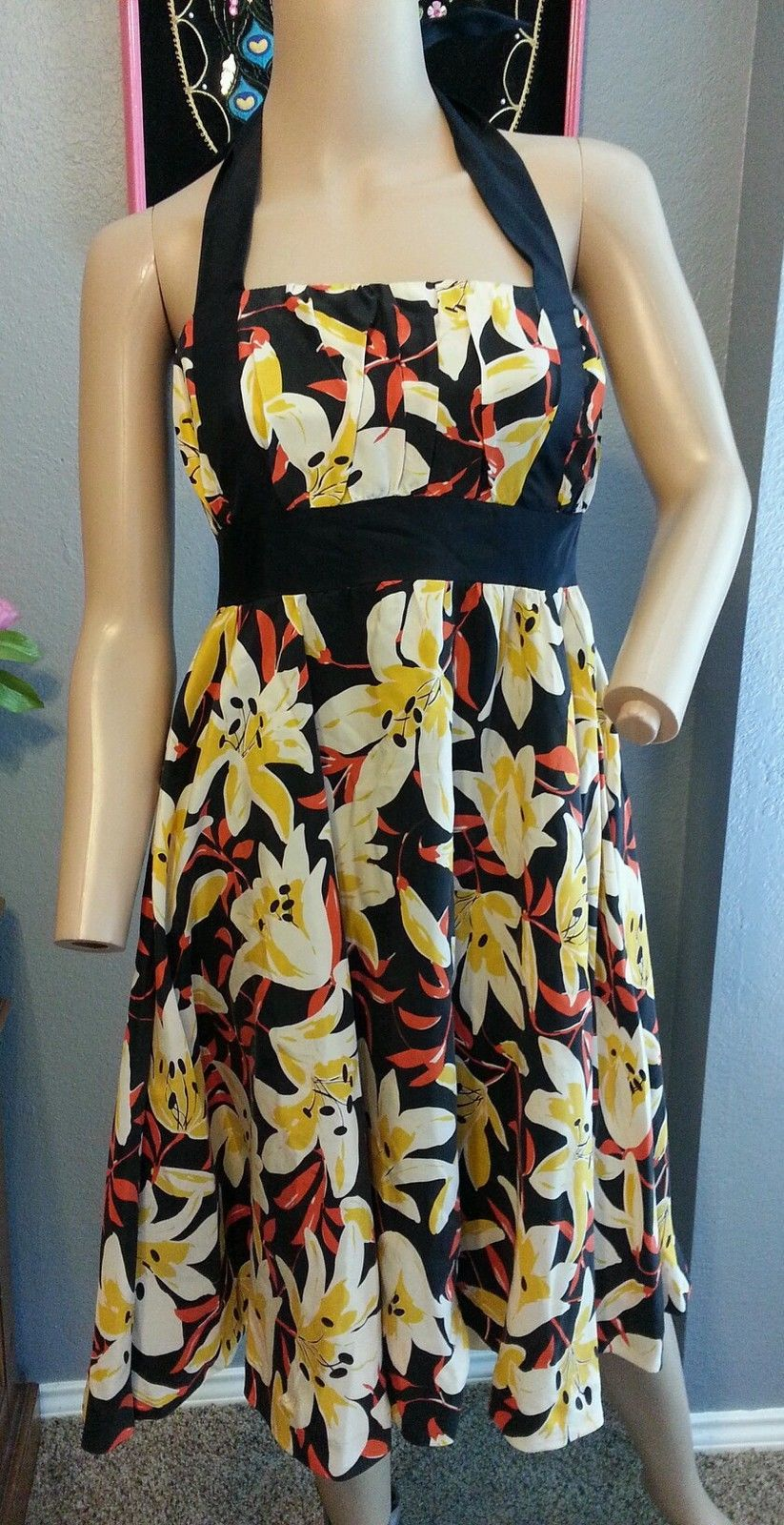 Moulinette Soeurs Floral Lilly Silk Mayflower Anthropologie Dress 0 XS - $71.24