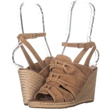 Sam Edelman Awan Wedge Ankle Strap Sandal 591, Camel, 6 US / 36 EU - $42.23