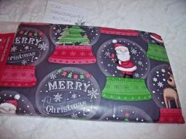 "NEW CHRISTMAS SNOWGLOBE TABLECLOTH Santa Reindeer Trees 52"" X 70""  HOLID... - $14.75"