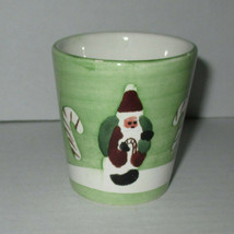 """2 1/2"""" Tall Christmas Candle Holder Santa Candy Canes - $2.00"""