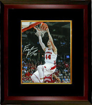 Frank Kaminsky signed Wisconsin Badgers 8x10 Photo Custom Framed (Slam D... - $89.95