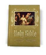 Holy Bible Catholic Heirloom Edition 1975-76 Edition Embossed Hardcover ... - $29.69