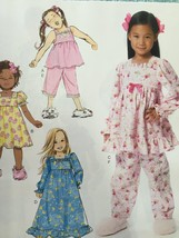Butterick Sewing Pattern 6277 Toddlers/Childrens Top Dress Gown Size 6-8... - $18.82