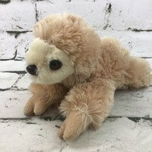 Aurora Tree Sloth Tan Shaggy Lay-Down Mini Stuffed Animal Soft Nature Wi... - $14.84