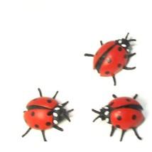 Doll House Shoppe Toy Ladybug Set/3 8505 Micro-mini Miniature - $3.89