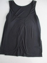 Old Navy Women Top L Black Solid Sleeveless Polyester Rayon 18115 - $7.09