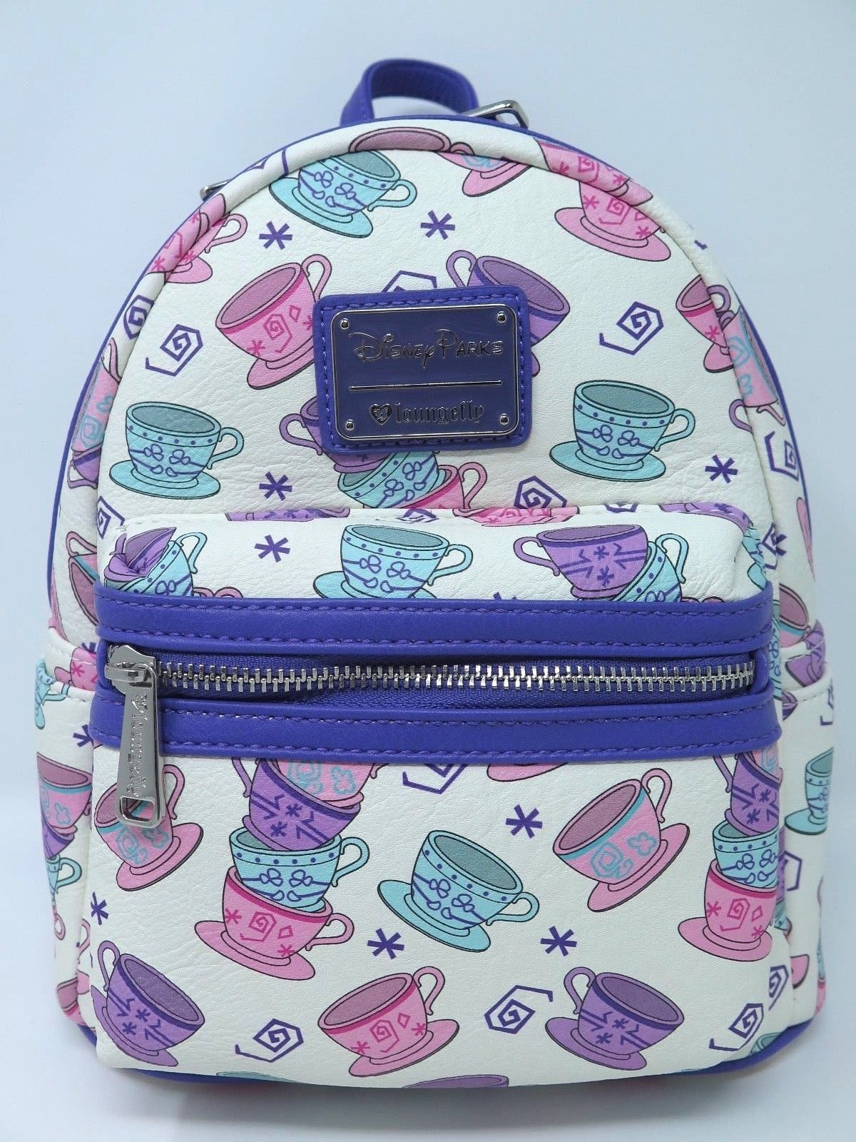 6e5b36ab969 57. 57. Previous. Disney Parks Loungefly Mini Backpack Tea Cups Alice in Wonderland  Purse Bag