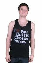 I Love You But I'Ve Chosen Trance Music Schwarz Tank Top Muskelshirt Neu