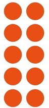 "2"" Orange Round Color Coded Inventory Label Dots Stickers - $3.99+"