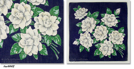 Beautiful Bouquet of White Roses Vintage Handkerchief Hanky (Inventory #M4442) - $28.00