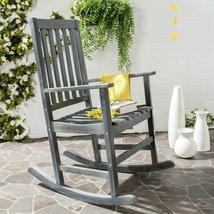 Outdoor Rocking Chair Traditional Ash Gray Wood Stylish Home Relaxing Se... - $173.99