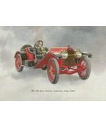 Vintage Best Wishes Card 1913 Stutz Bearcat Antique Automobile - $8.90